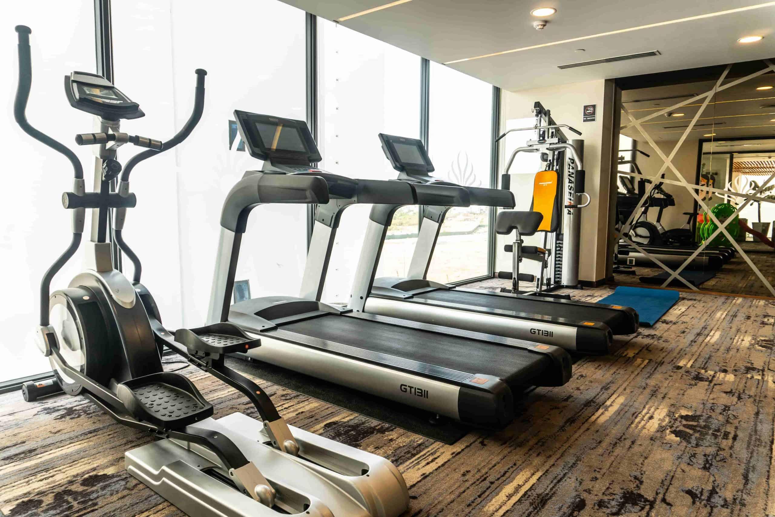 Phòng gym với trang thiết bị hiện đại