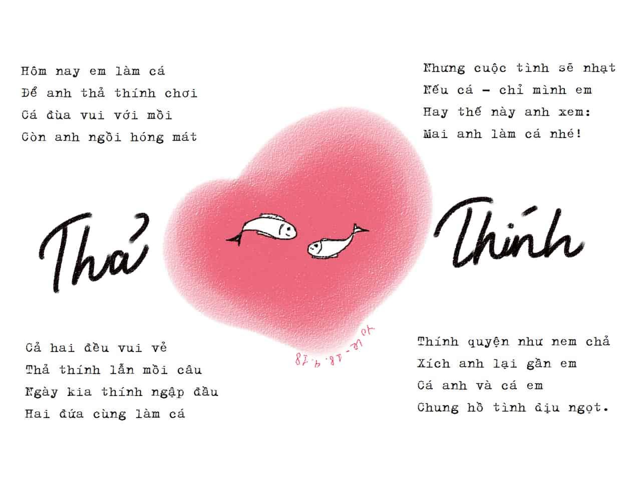Những bài thơ, stt thả thính hay và ý nghĩa nhất