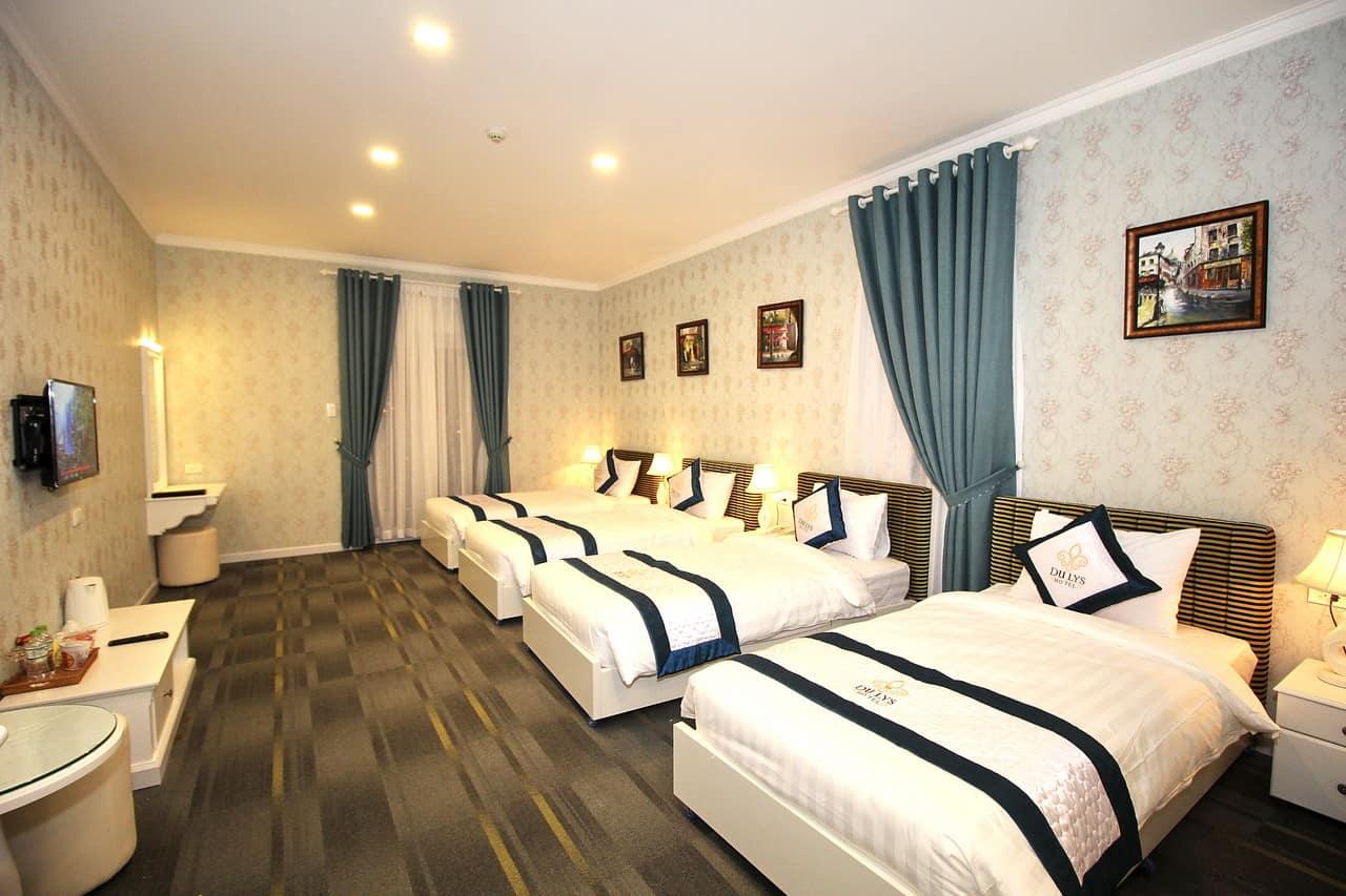 Không gian phòng gia đình vô cùng rộng rãi, đem đến thời gian nghỉ ngơi tuyệt vời và thoải mái nhất.