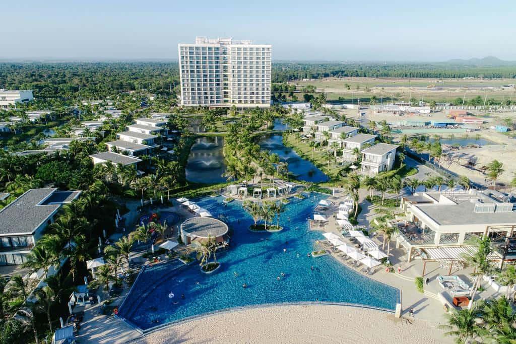 Tầm nhìn từ trên cao của Melia Hồ Tràm Beach Resort