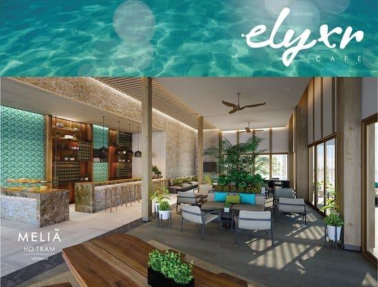 Không gian xanh của ELYXR Cafe mang lại cảm giác dễ chịu cho du khách