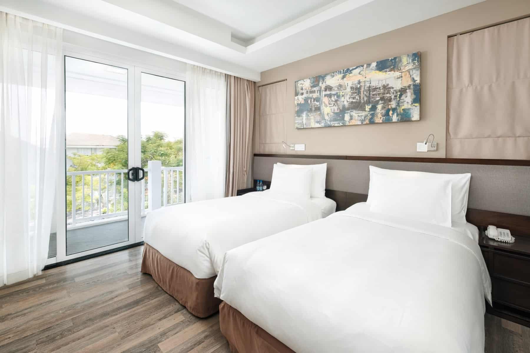 Phòng ngủ đôi với không gian thoáng đãng