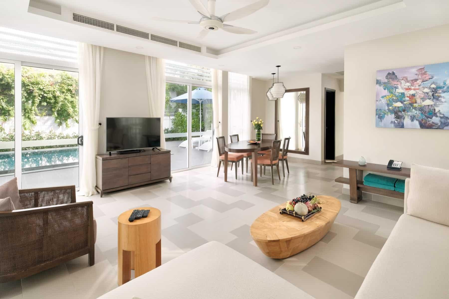 Phòng khách với thiết kế thanh lịch, trang nhã