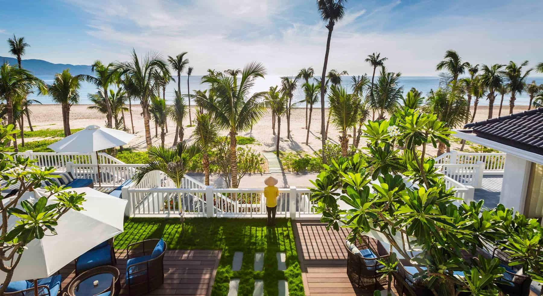 Khu biệt thự hướng biển với không gian xinh đẹp xem lẫn cỏ cây