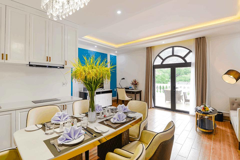 Phòng Vip sở hữu đầy đủ không gian chức năng như ở nhà với thiết kế tinh tế