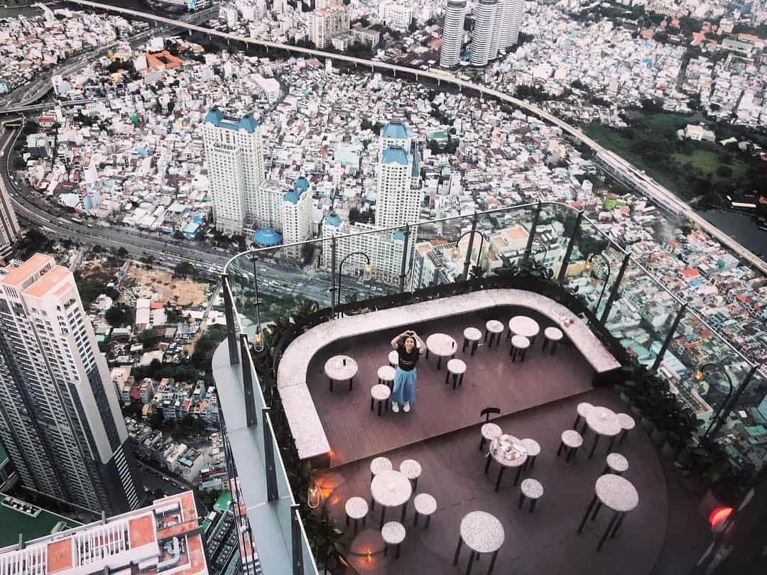 Check-in không gian ngoài trời tại Blank Lounge Bar cao nhất Đông Nam Á - Nguồn ảnh: Internet