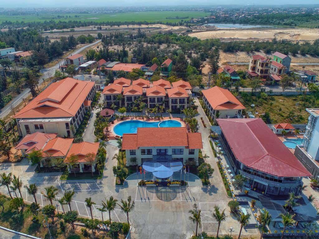 Toàn cảnh Manli Resort Quảng Bình nhìn từ trên cao