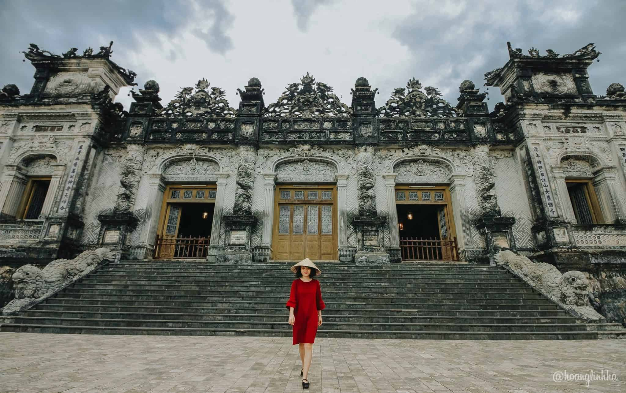 Lăng Khải Định, điểm nhấn trong kiến trúc Huế. Hình: Hoàng Linh Hà