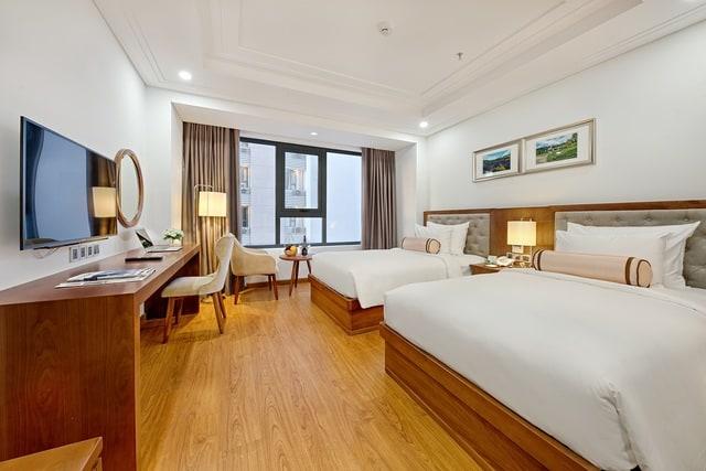 Thiết kế nội thất phòng nghỉ sang trọng và hài hòa của Paris Deli