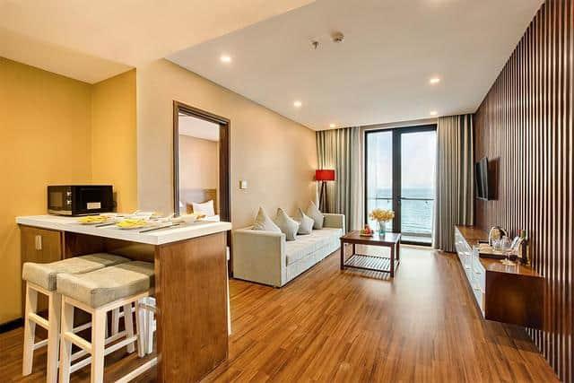 Phòng nghỉ rộng rãi với các không gian chức năng đầy đủ tiện nghi sang trọng
