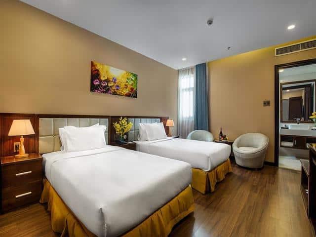 Phòng giường đôi thiết kế không gian ấm cúng và dễ chịu