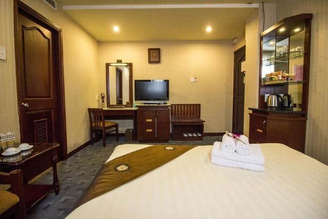 Không gian nghỉ ngơi được thiết kế hiện đại của khách sạn Thiên Thảo