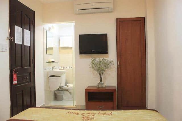 Các phòng nghỉ được bài trí nhẹ nhàng, đầy đủ tiện nghi