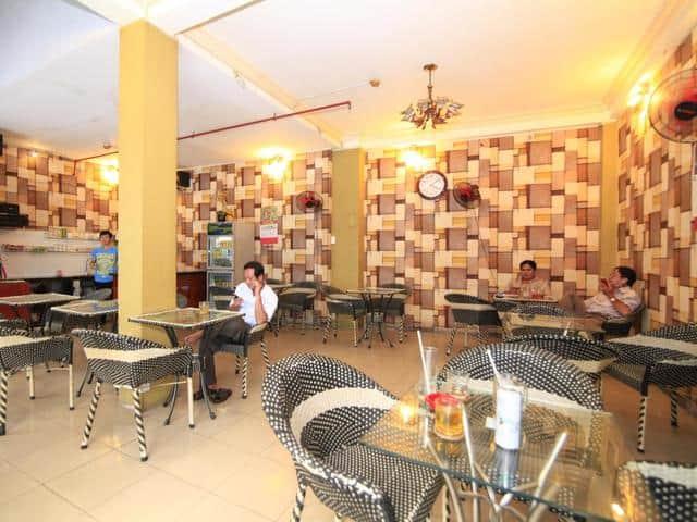 Quầy cafe phục vụ trong khuôn viên khách sạn