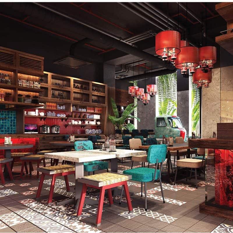 Không gian bên trong nhà hàng Dì Mai - Nơi bạn có thể thưởng thức tinh hoa ẩm thực Việt - Nguồn ảnh: Internet