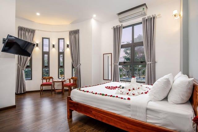 Phòng nghỉ với phong cách sang trọng, nhã nhặn tại Bamboo Hotel