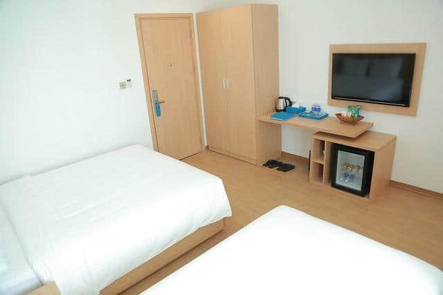 Bên trong phòng ngủ của khách sạn Gold Boutique trang bị rất tiện nghi và rộng rãi