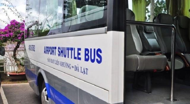 Xe buýt tuyến sân bay Liên Khương đi Đà Lạt. Ảnh: Internet