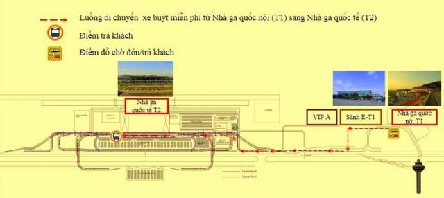 Sơ đồ Nhà ga T2. Ảnh: Internet