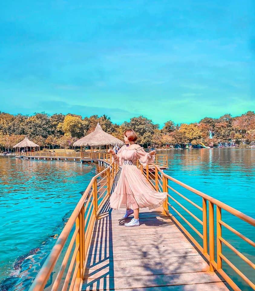 Vẻ đẹp thiên nhiên hoang sơ tươi mát tại Suối Mơ là nơi sống ảo cực chất - Nguồn ảnh: Fanpage công viên Suối Mơ