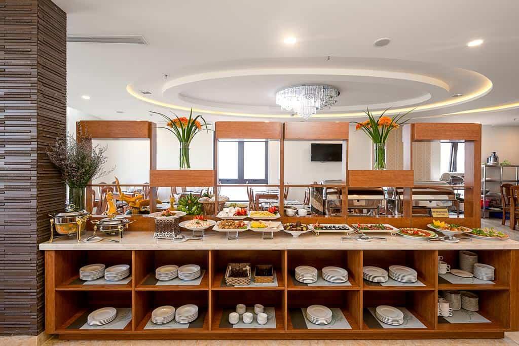 Nhà hàng buffet tại Sepon Blue Hotel