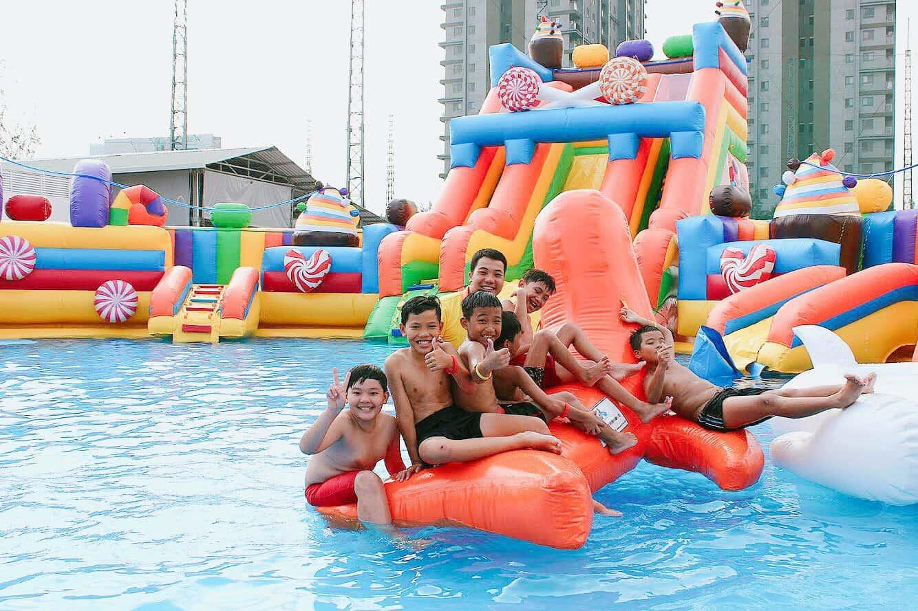 Công viên nước mini Hello Park nơi các bé thoả sức vui chơi - Nguồn ảnh: Internet