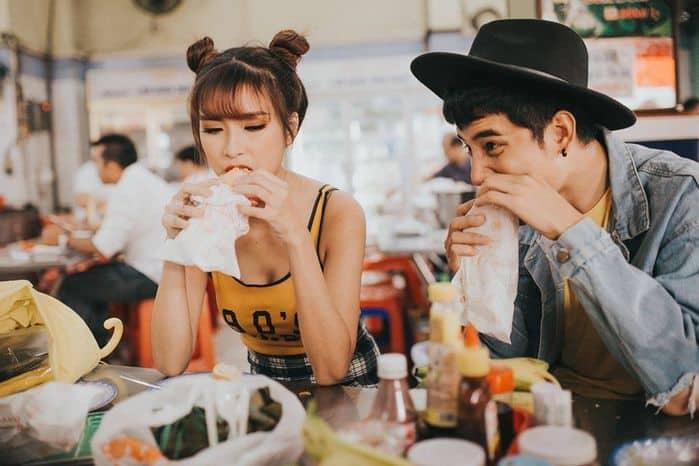 Cùng nhau thưởng thức những món ăn yêu thích của cả hai