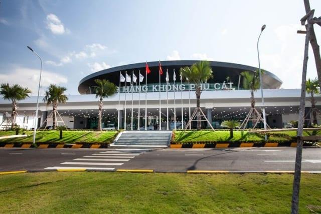 Tháng 1/2020, sân bay Phù Cát trở thành cảng hàng không quốc tế. Ảnh: Internet