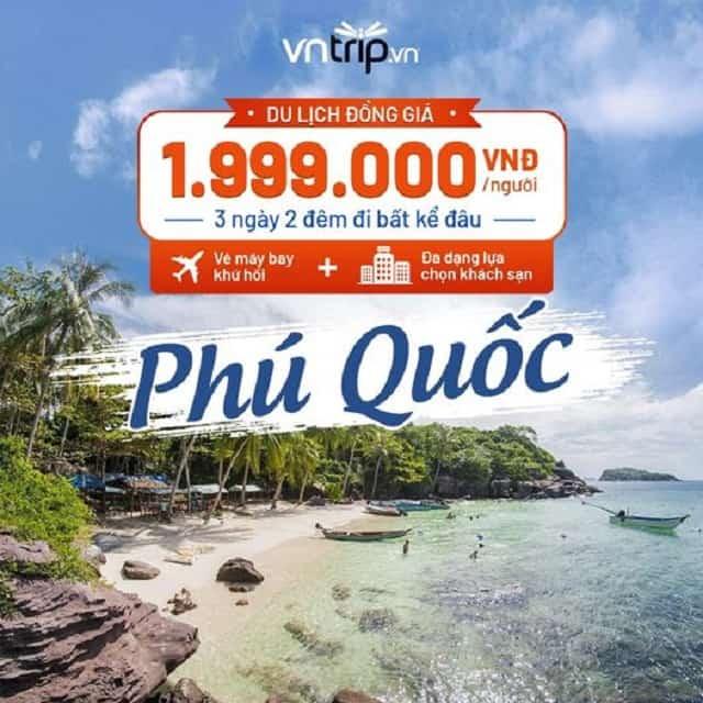 Combo du lịch Phú Quốc 3 ngày 2 đêm đồng giá 1,999 triệu đồng