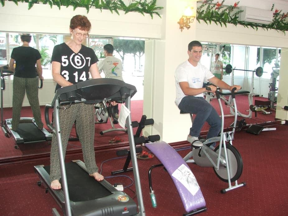 Phòng tập gym với các loại máy móc hỗ trợ bạn rèn luyện sức khỏe khi đi nghỉ dưỡng