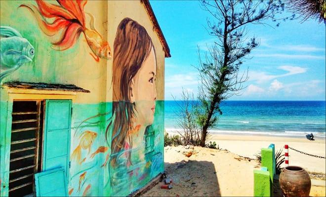 Làng bích hoạ Tam Thanh nơi chiêm ngưỡng vẻ đẹp đầy ấn tượng - Nguồn ảnh: Internet