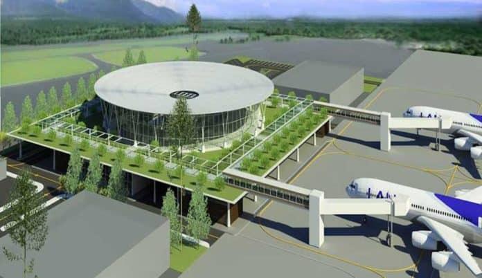 Hình ảnh toàn cảnh sân bay Phù Cát - Quy Nhơn - Nguồn ảnh: Internet