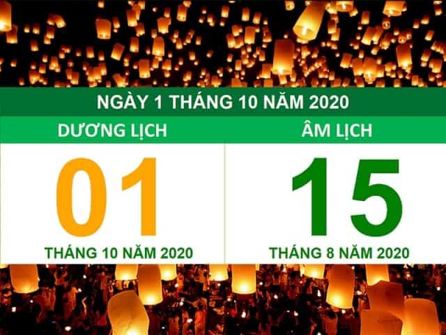 Trung thu năm nay trùng ngày 1/10/2020 dương lịch. Ảnh: Internet