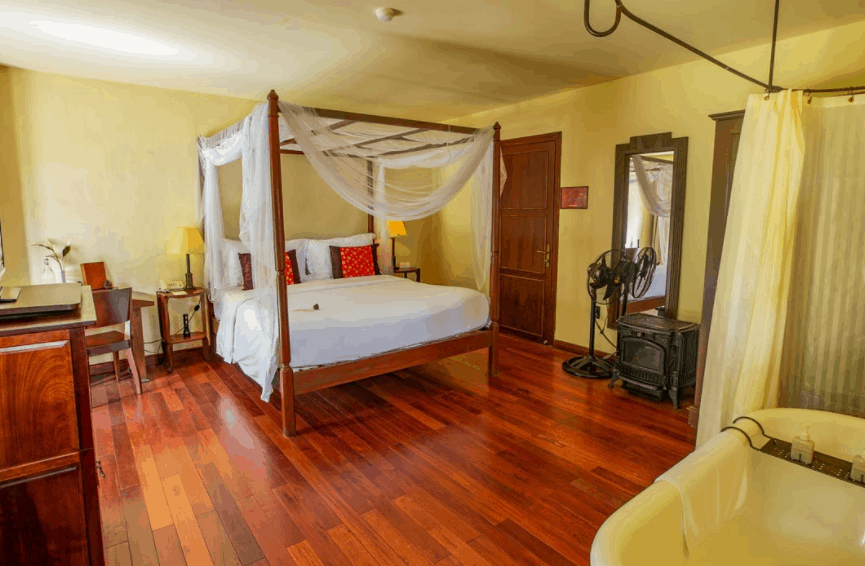 Không gian phòng rất ấm cúng, đem lại cảm giác gần gũi cho du khách khi nghỉ dưỡng tại đây.