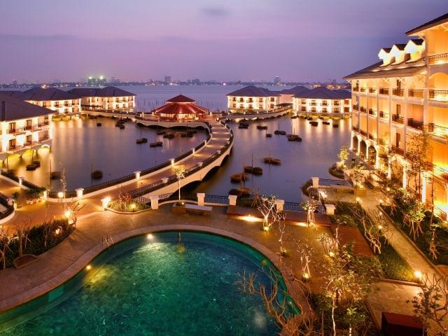 Một góc của Khách sạn Intercontinental Westlake Ha Noi. Ảnh: Internet