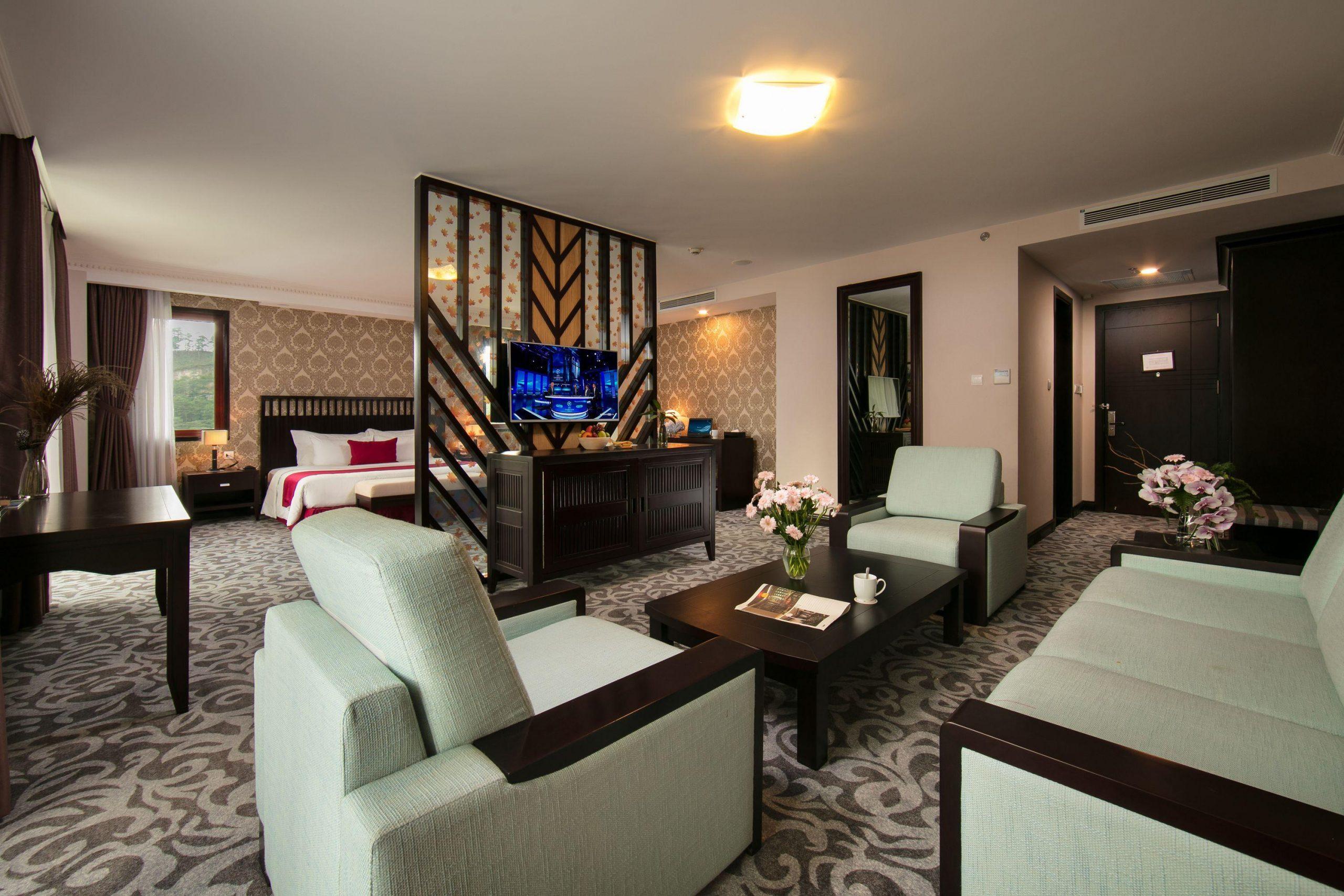 Phòng nghỉ sang trọng nhằm đem lại cho khách những giây phút thư giãn nhất