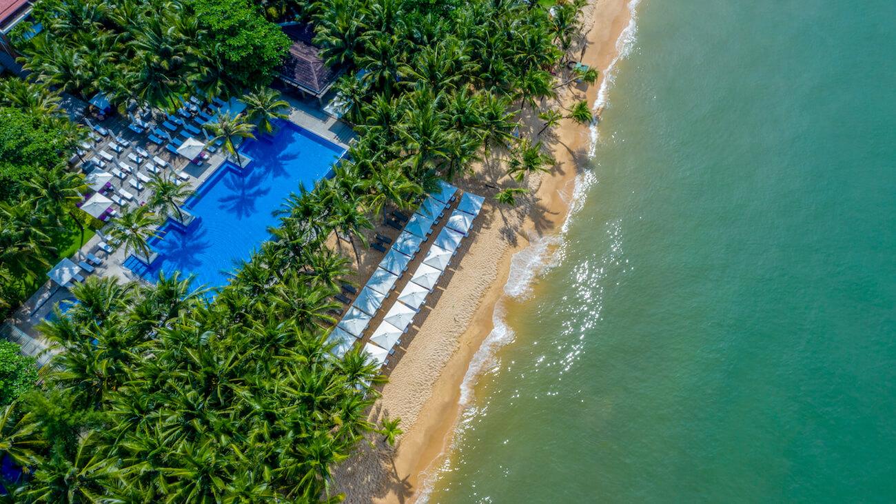 Khung cảnh bãi biển tuyệt đẹp tại Salinda Resort