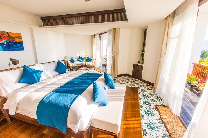 Phòng nghỉ ngập nắng chính là một trong những trải nghiệm khó quên nhất cho du khách khi chọn The Anam làm điểm dừng chân
