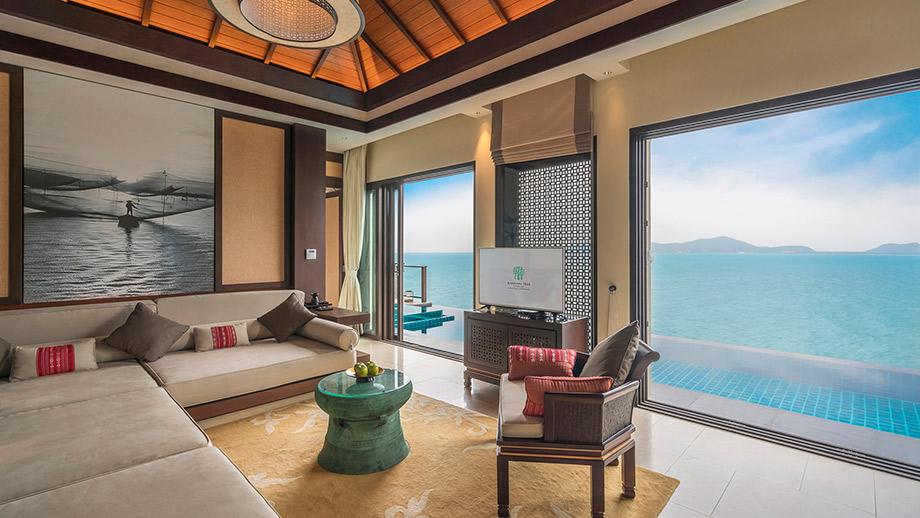 Biệt thự sườn đồi hai phòng ngủ hướng biển rộng 237 m2 với nội thất tiện nghi sang trọng là một lựa chọn hoàn hảo cho gia đình và nhóm bạn bè.
