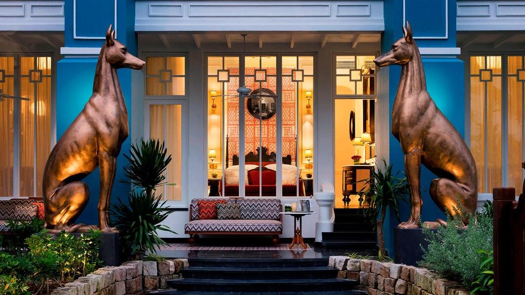 Le Jardin du khách có thể chọn loại 1 giường King hoặc 2 giường đơn, có vườn