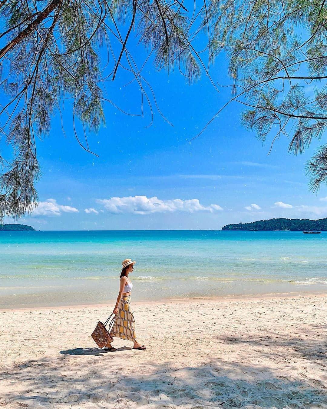 Dạo bước trên biển. Hình: @truonghoang.maianh