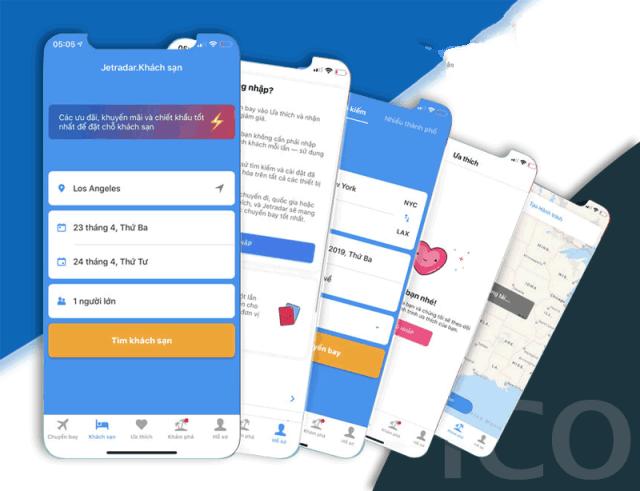 Jetradar - App đặt phòng và vé máy bay giá rẻ. Ảnh: Internet