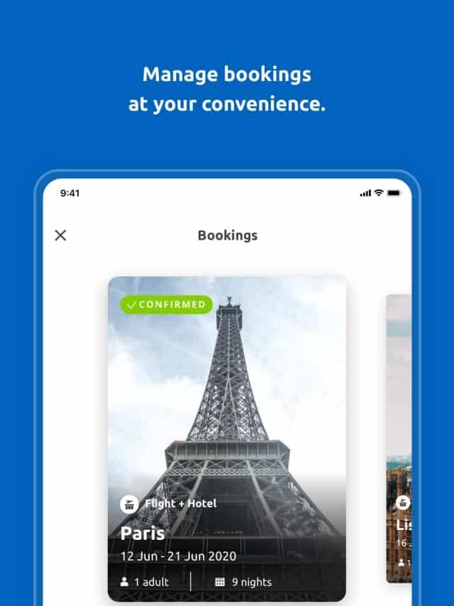 Thiết kế sang trọng của ứng dụng booking Bravofly. Ảnh: Internet