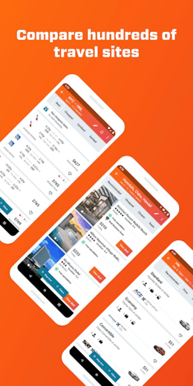 Nền tảng app du lịch Kayak. Ảnh: Internet