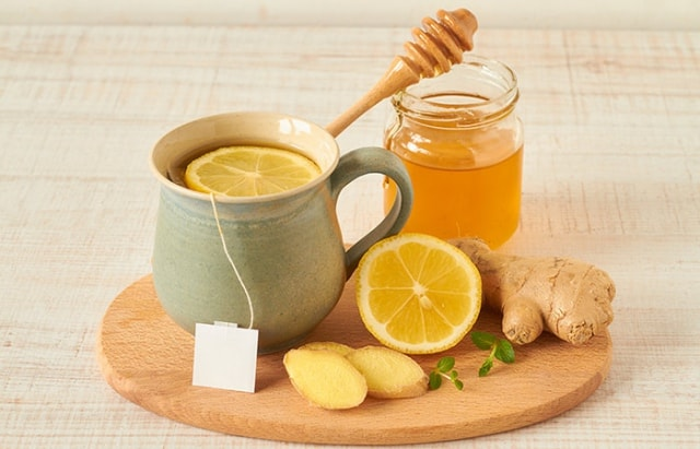 Nước chanh gừng mật ong giảm mỡ bụng, tăng cường sức đề kháng. Ảnh: Internet
