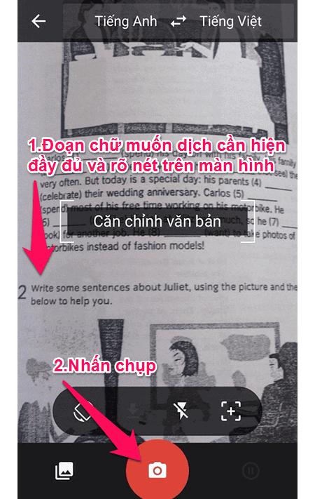 Hướng dẫn sử dụng chế độ Scan trong tính năng dịch hình ảnh - Nguồn ảnh: Internet