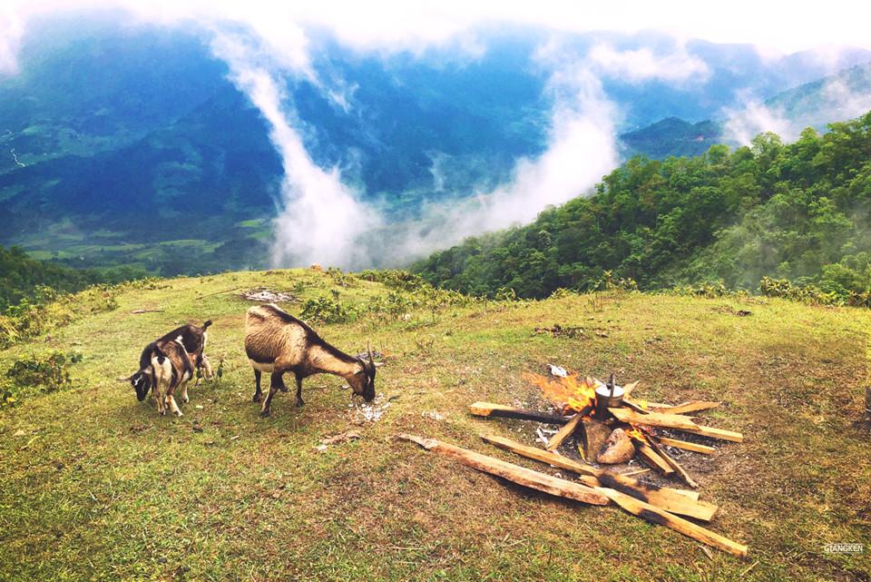 Trên đỉnh Cao Xiêm. Hình: Giangken
