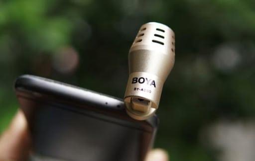 Sử dụng thiết bị thu âm ngoài để ghi lại những âm thanh chất lượng