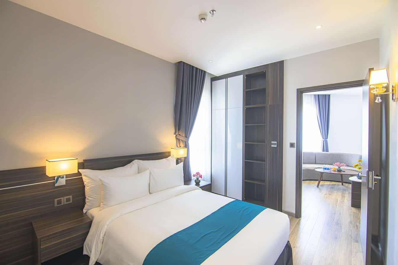 Phòng ngủ trong căn hộ 3 phòng ngủ