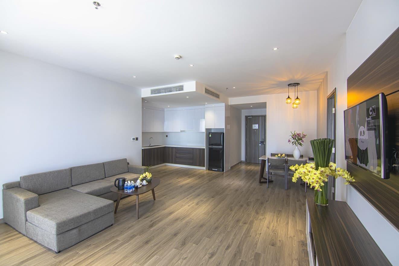 Không gian rộng rãi của căn hộ 3 phòng ngủ